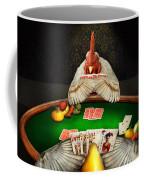 Chicken - Playing Chicken Coffee Mug by Mike Savad