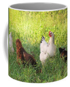 Chickens In Tall Grass Coffee Mug