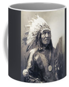 Chief He Dog Of The Sioux Nation  C. 1900 Coffee Mug