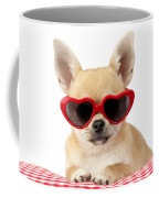 Chihuahua In Heart Sunglasses Dp813 Coffee Mug by Greg Cuddiford