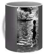 Child Fishing Coffee Mug