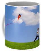 Child Flying A Kite Coffee Mug