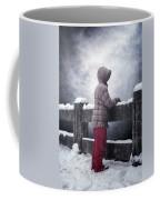 Child In Snow Coffee Mug
