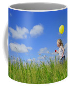 Child Running With A Balloon Coffee Mug