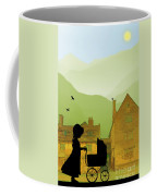Childhood Dreams The Pram Coffee Mug by John Edwards