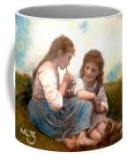 Childhood Idyllic By Bouguereau Coffee Mug