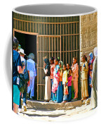 Children And Tourists At Entry To Temple Of Hathor In Dendera-egypt Copy Coffee Mug by Ruth Hager