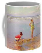 Children On The Beach Coffee Mug