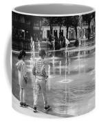 Children Play By Fountain Coffee Mug