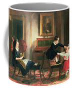 Children Playing At Coach And Horses Coffee Mug by Charles Robert Leslie