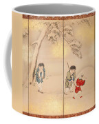Children Playing In Summer And Winter Coffee Mug