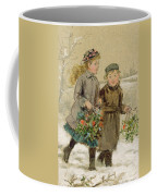Children Playing In The Snow  Coffee Mug