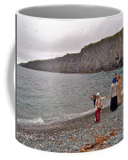 Children Throwing Capelin Back Into The Ocean At Middle Cove-nl Coffee Mug