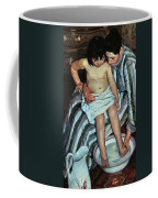 Child's Bath Coffee Mug by Mary Cassatt