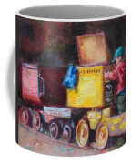Child's Play - Gold Mine Train Coffee Mug by Talya Johnson