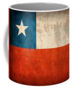 Chile Flag Vintage Distressed Finish Coffee Mug