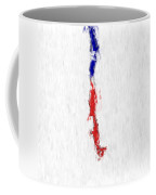 Chile Painted Flag Map Coffee Mug