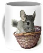 Chinchilla In A Straw Basket  Coffee Mug