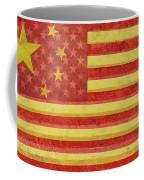 Chinese American Flag Blend Coffee Mug