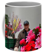Chinese Bicycle Flower Vendor On Street Shanghai China Coffee Mug