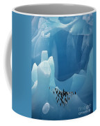 Chinstrap Penguins On Blue Iceberg Coffee Mug