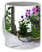 Chipmunk And Flowers Coffee Mug