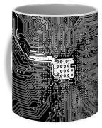 Chipset Black And White Coffee Mug
