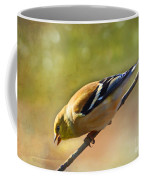 Chirping Gold Finch - Painted Effect Coffee Mug