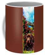 Chocolate Raspberry Fields Coffee Mug by Molly Poole