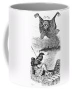 Cholera Cartoon, 1883 Coffee Mug by Granger