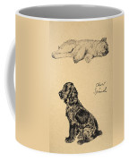 Chow And Spaniel, 1930, Illustrations Coffee Mug by Cecil Charles Windsor Aldin