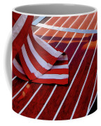 Chris Craft With American Flag Coffee Mug