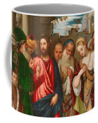 Christ And The Woman Taken In Adultery Coffee Mug by Veronese