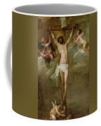 Christ Attended By Angels Holding Chalices Coffee Mug