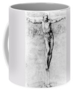 Christ On The Cross Coffee Mug by Michelangelo Buonarroti