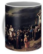 Christ On The Cross Coffee Mug by Mihaly Munkacsy
