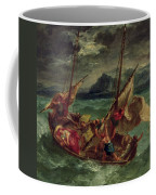 Christ On The Sea Of Galilee Coffee Mug by Delacroix