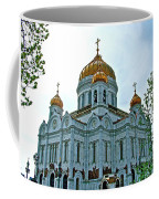 Christ The Savior Cathedral In Moscow-russia Coffee Mug