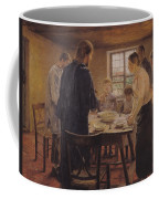 Christ With The Peasants Coffee Mug by Fritz von Uhde