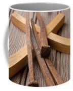 Christian Cross And Rusty Nails Coffee Mug