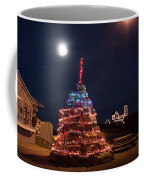 Christmas At Maines Nubble Lighthouse Coffee Mug