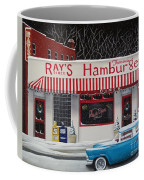 Christmas At Ray's Diner Coffee Mug by Catherine Holman