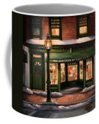 Christmas At The Bookstore Of Gloucester Coffee Mug