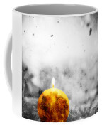 Christmas Ball Candle Lights On Winter Background Coffee Mug