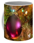 Christmas Ball Ornament Purple 1 Coffee Mug