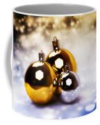 Christmas Balls Gold Silver Coffee Mug