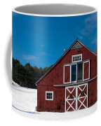 Christmas Barn Coffee Mug by Edward Fielding