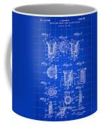 Christmas Bulb Socket Patent 1936 - Blue Coffee Mug