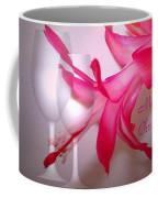 Christmas Cactus And Two Glasses - Merry Christmas Coffee Mug
