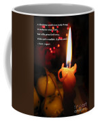 Christmas Candle Greeting Coffee Mug